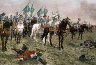 Kong Gustav Adolf II Adolf II før slaget ved Lützen i 1632. Olje på lerret, 1892, av Ludwig Braun. Foto: The Granger Collection / NTB scanpix